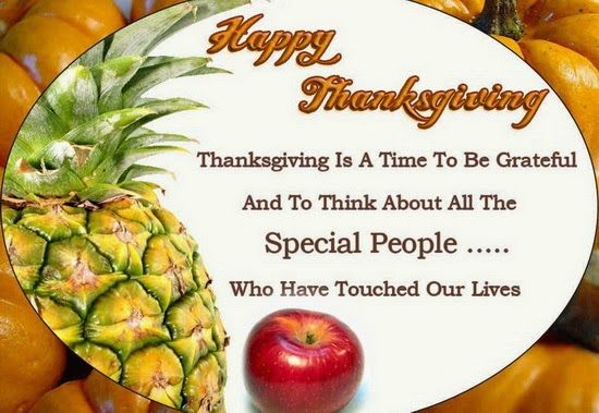 Happy Thanksgiving Greetings Card Message to Friends