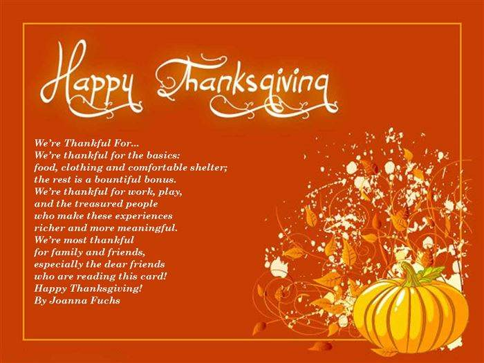 Thanksgiving Poems For Church Kids Preschoolers