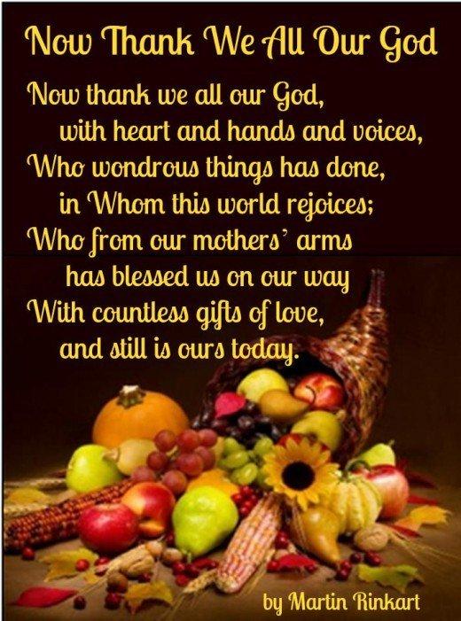 Thanksgiving Poems for Church, Kids, Preschoolers, Inspirational