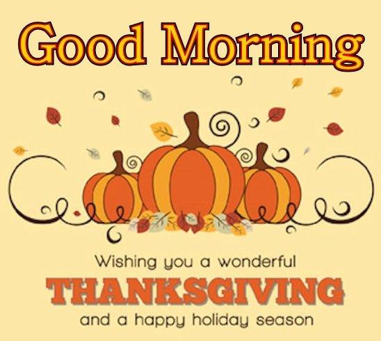 Good Morning Happy Thanksgiving Pic