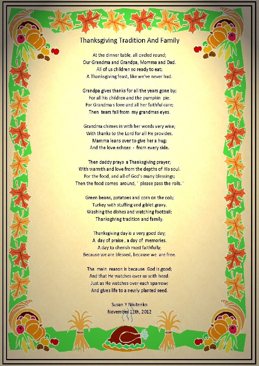 Thanksgiving Poems For Church Kids Preschoolers Inspirational Poems Bible Verses For Family