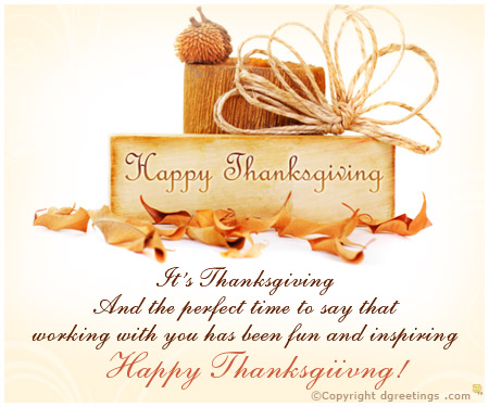 Happy Thanksgiving Card Wishes