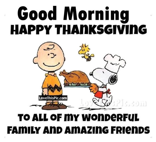 Good Morning Happy Thanksgiving Facebook Friends Image