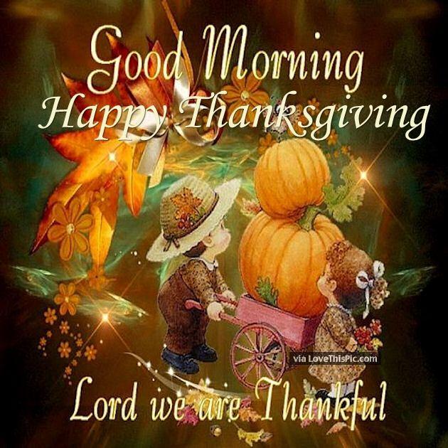 Good Morning Thankful Happy Thanksgiving Pic