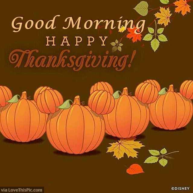 Good Morning and Happy Thanksgiving