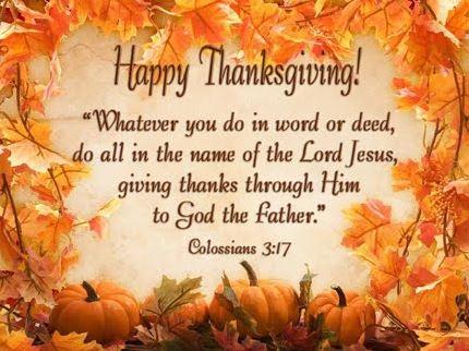 Happy Thanksgiving Bible Verses