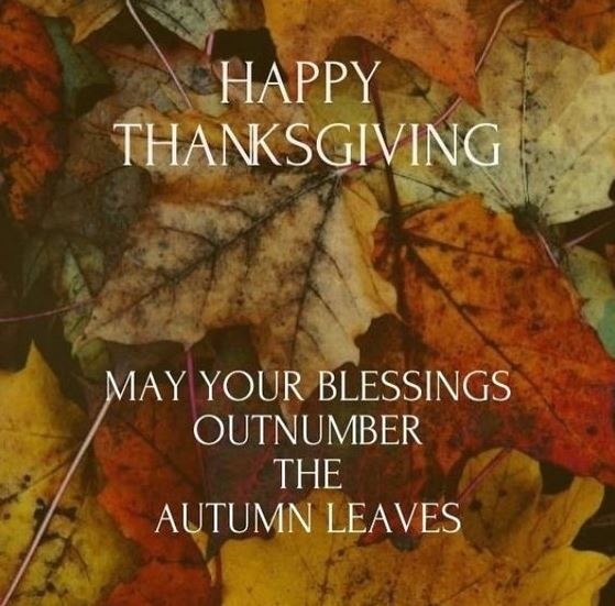 Happy Thanksgiving Blessings Image