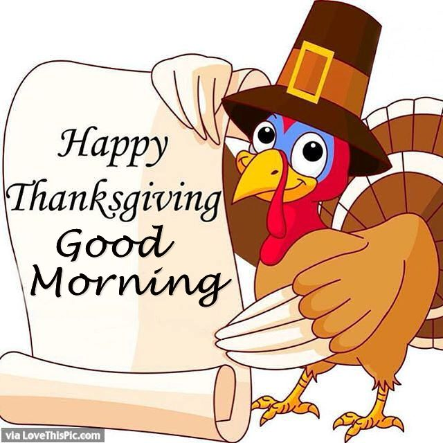 Happy Thanksgiving Good Morning Turkey Picture Image