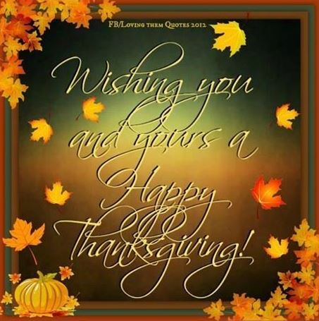 Happy Thanksgiving Pictures for Friends and Family