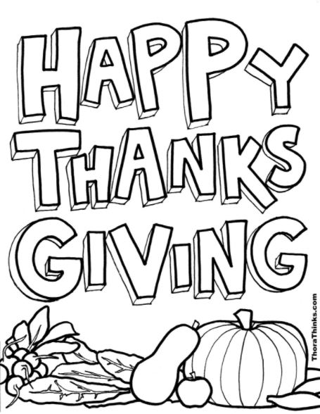 Happy Thanksgiving Pictures to color and print