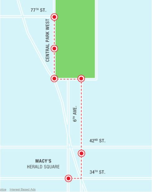 Macy's Thanksgiving Day Parade 2017 Route Map