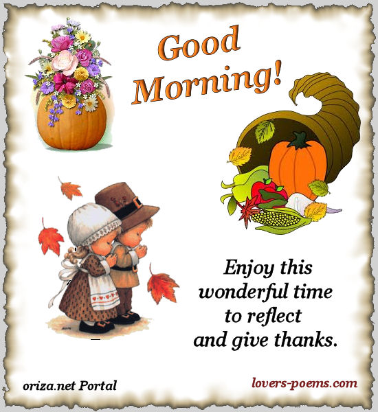Morning Happy Thanksgiving day picture