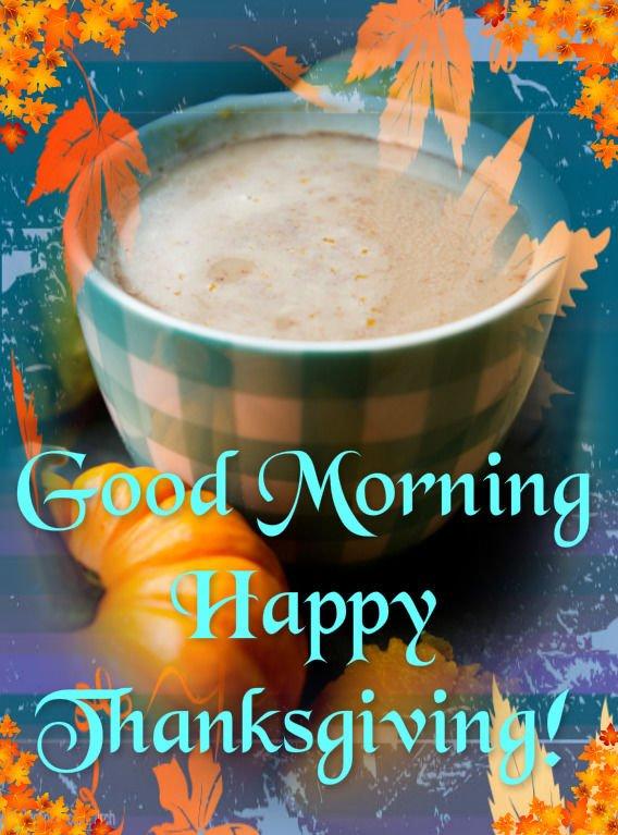 Morning Thanksgiving Coffee Image