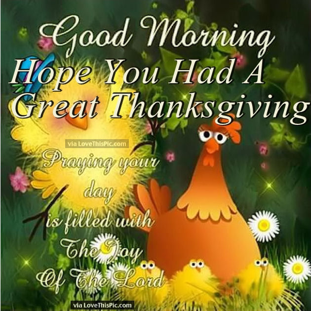Thanksgiving Good Morning Images