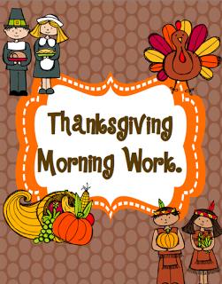 Thanksgiving Morning Work