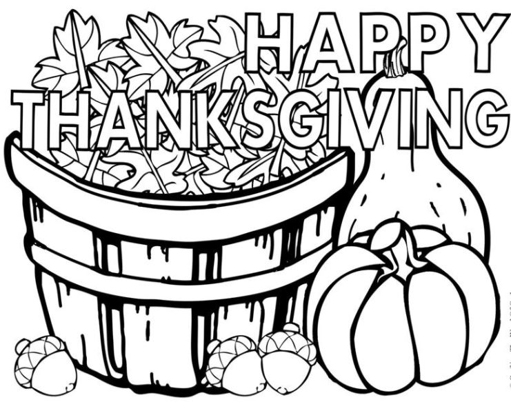Thanksgiving Pictures to Draw